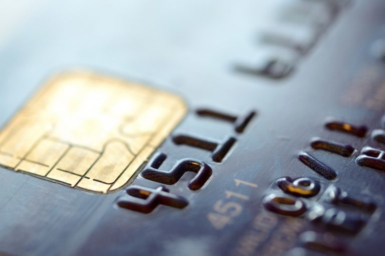 Closeup shot of credit card