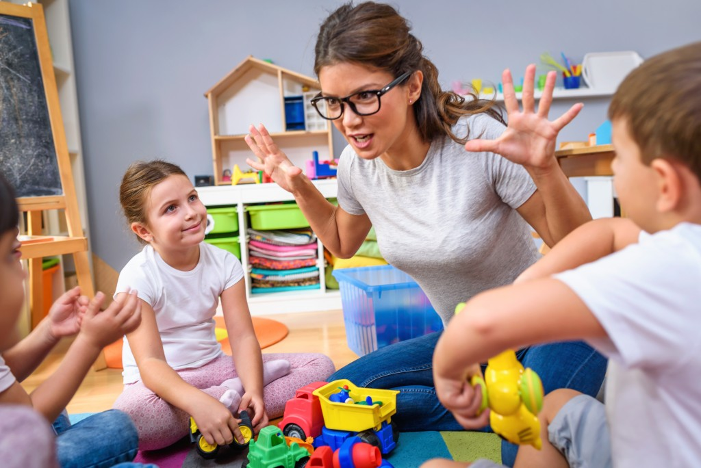 Teaching kids using playing and toys