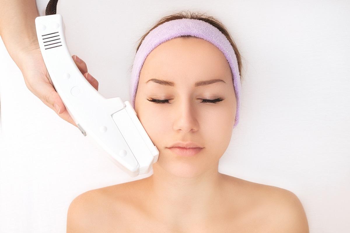 Female getting beauty treatment
