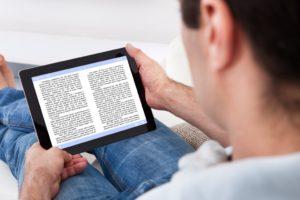 reading an e-book
