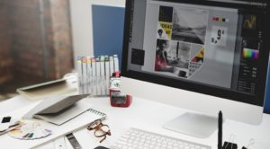 graphic designer's desk