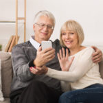 seniors using phone