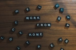 work from home block letters