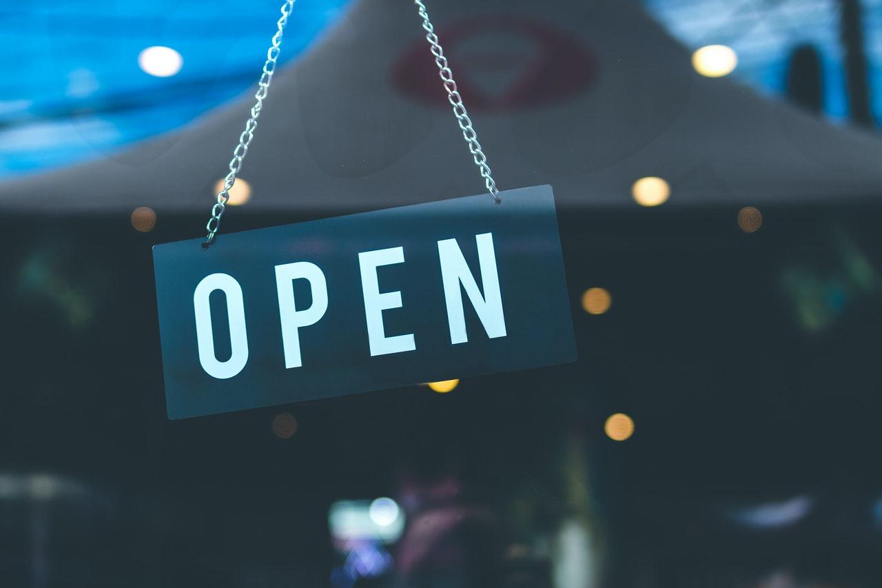 open signage