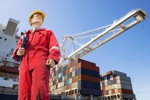 man at a shipyard